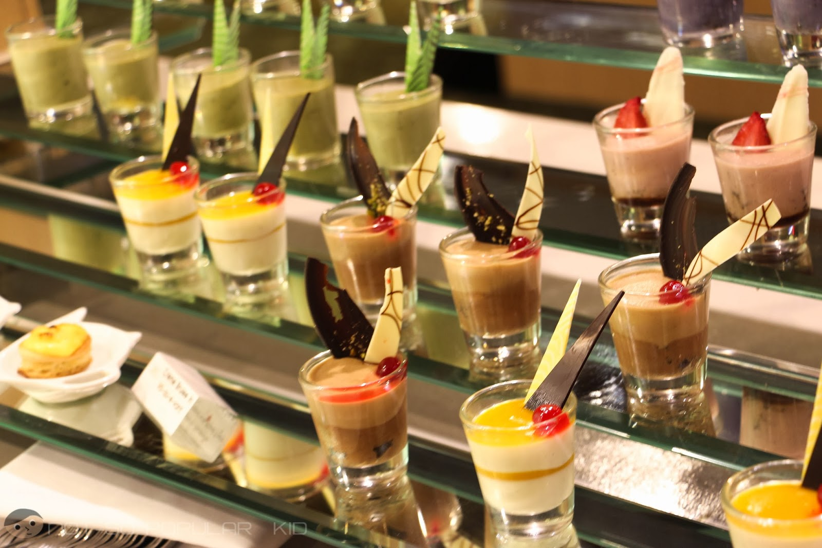 Desserts in a shot-glass in Midas Cafe!