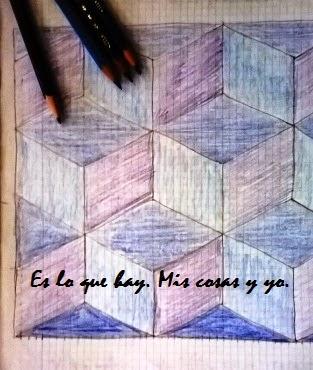 Dibujo en papel cuadriculado.