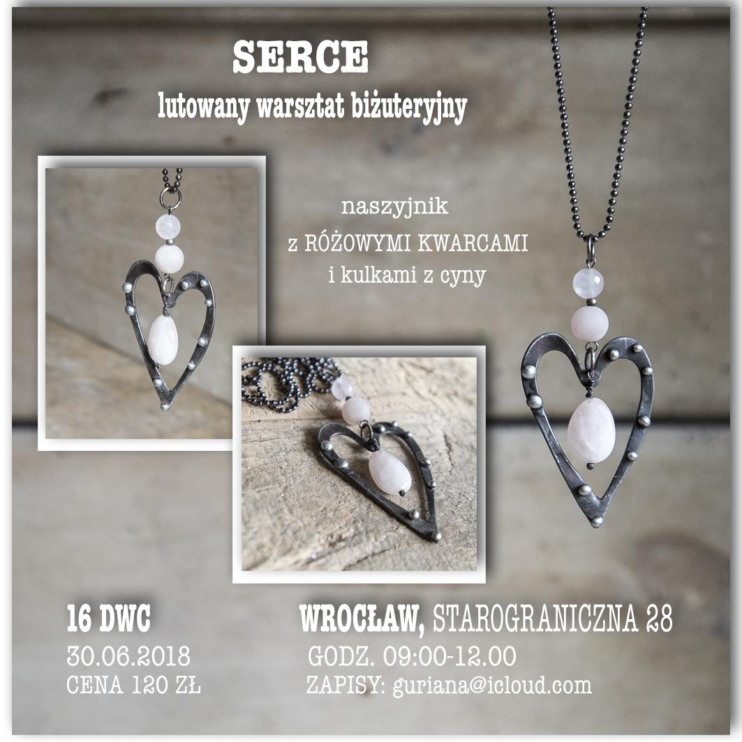 16 DWC Wrocłąw lutowany warszta biżuteryjny SERCE