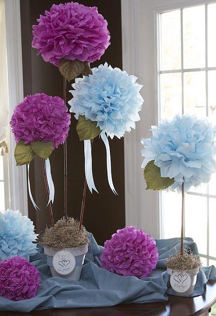 Flores de crepon - enviada por pinterest
