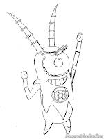 Mewarnai gambar plankton super