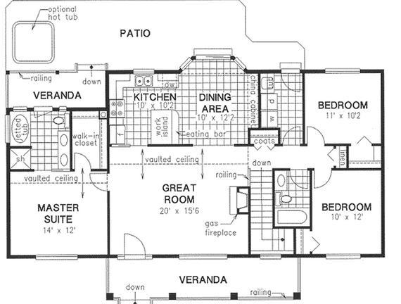 Planos de casas modelos y dise os de casas abril 2013 for Plano de cocina sencilla