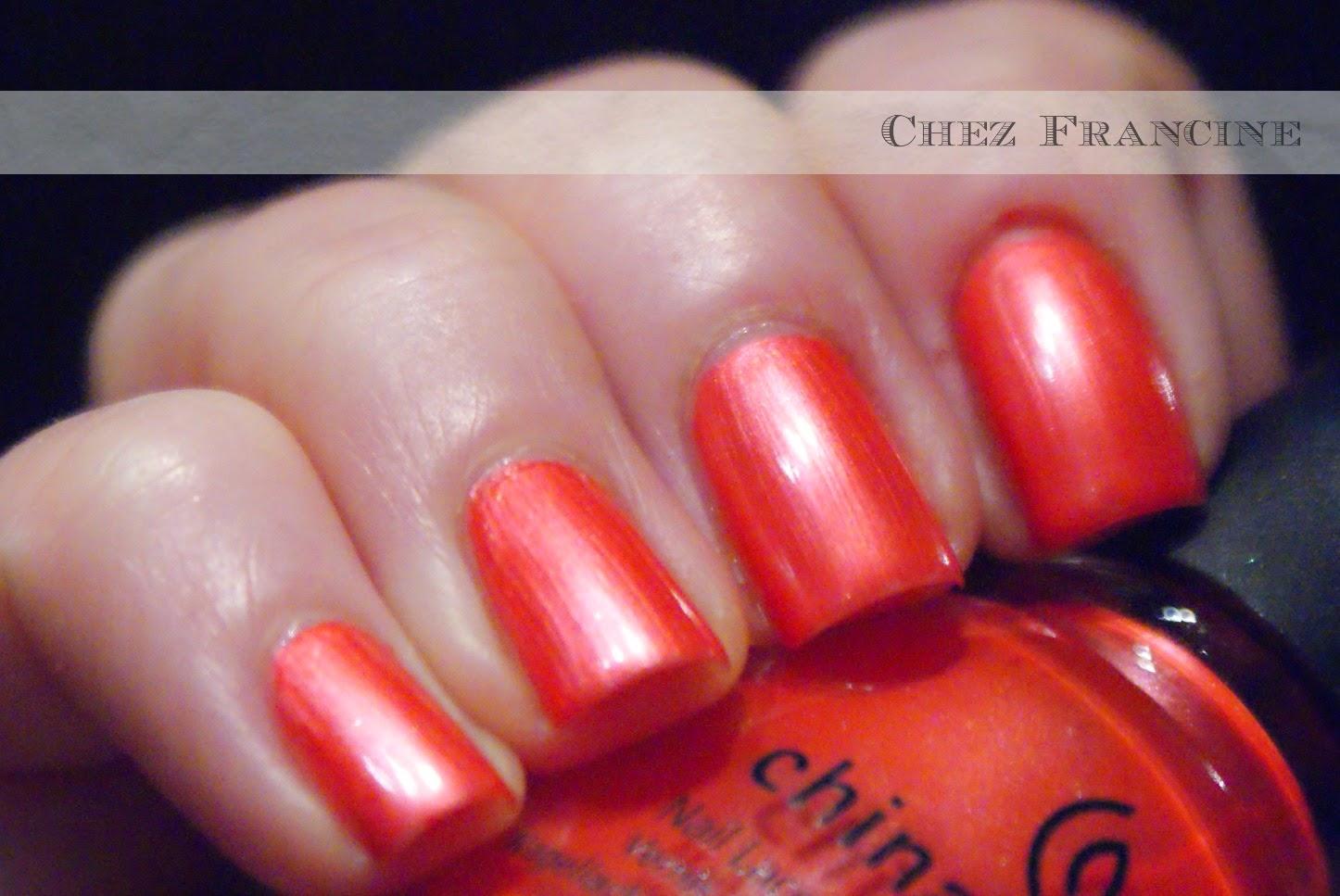 Chez Francine: [Finishpedia] #3 - Frost: China Glaze Coral Star