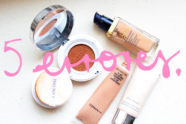 5 errores base maquillaje