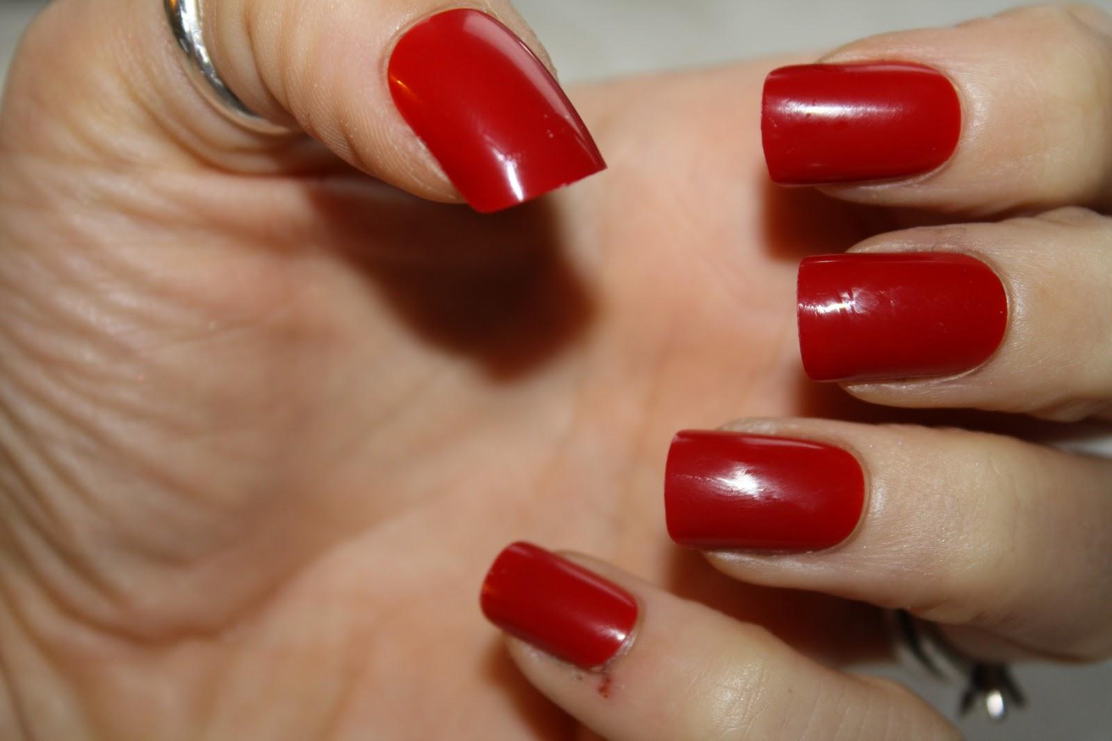 Amazing Red Square Nails Elaboration - Nail Art Ideas - morihati.com