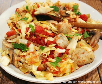 Sautéed cabbage with chicken Eastern origin Prepare Best recipe of the week in english