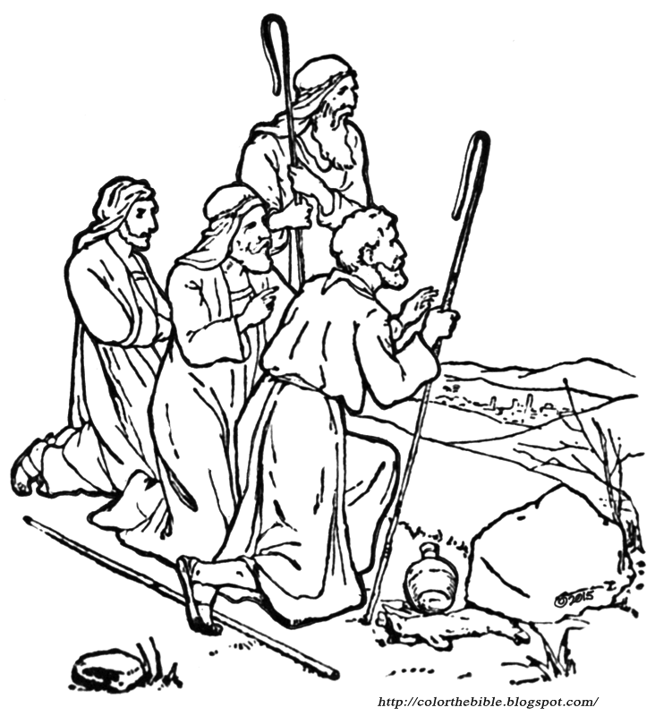 shepherds keep watch description of coloring page - Shepherds Coloring Page