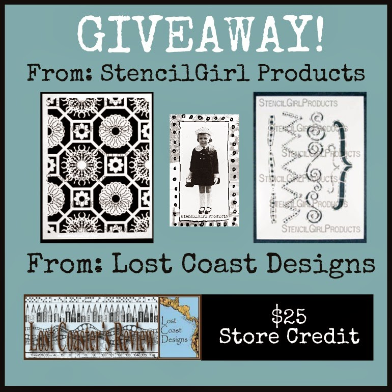 LOST COAST DESIGNS + STENCILGIRL BLOG HOP