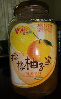 miju korean honey citron lemon tea glass jar