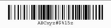128B BARCODE FONT