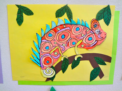 Chameleons kids art project