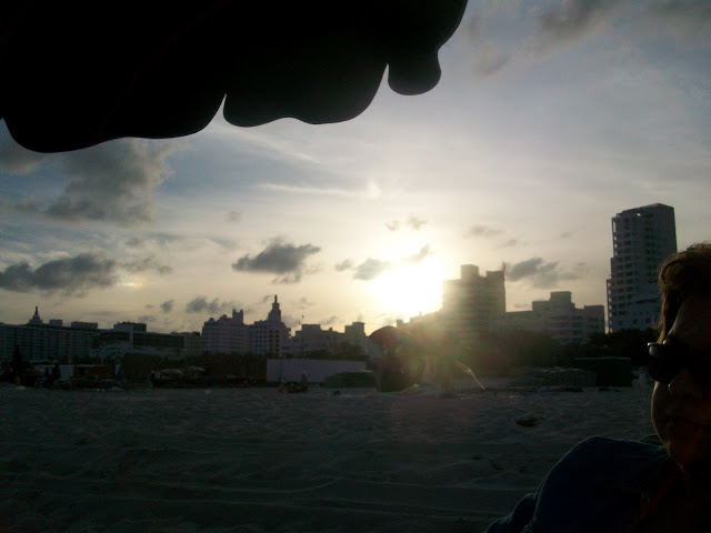 Miami,Beach,sunset