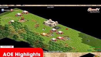 AOE Highlights - Tình huống trong game Tom dạy cho No1 biết thế nào là bo E đập dân 19