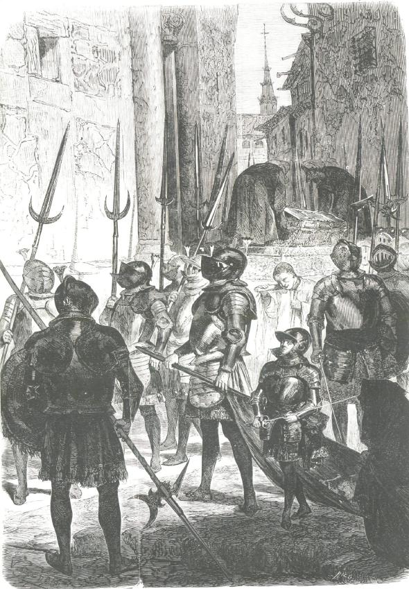 Semana Santa en Toledo. Guerreros guardianes del Santo Sepulcro en la cofradía del Viernes Santo.
