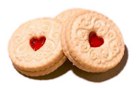 Jammy Dodger biscuits