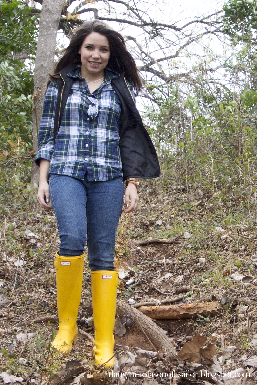 Hunter Yellow Rain Boo...