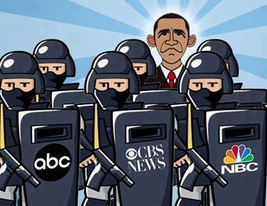media in bed with obama