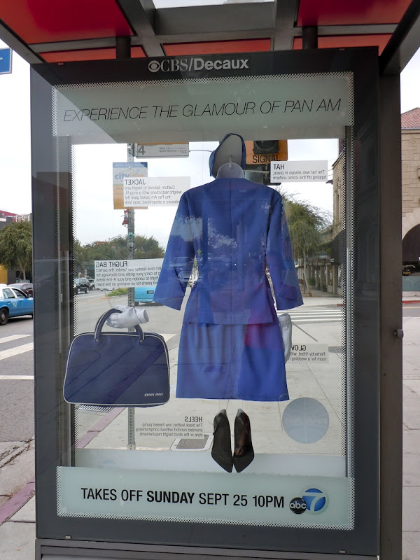 Pan Am TV show bus shelter WeHo