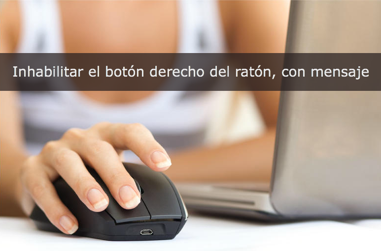 Bloquear botón derecho del mouse