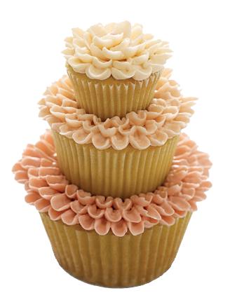 Layered Cupcake on Martha Stewart Weddings