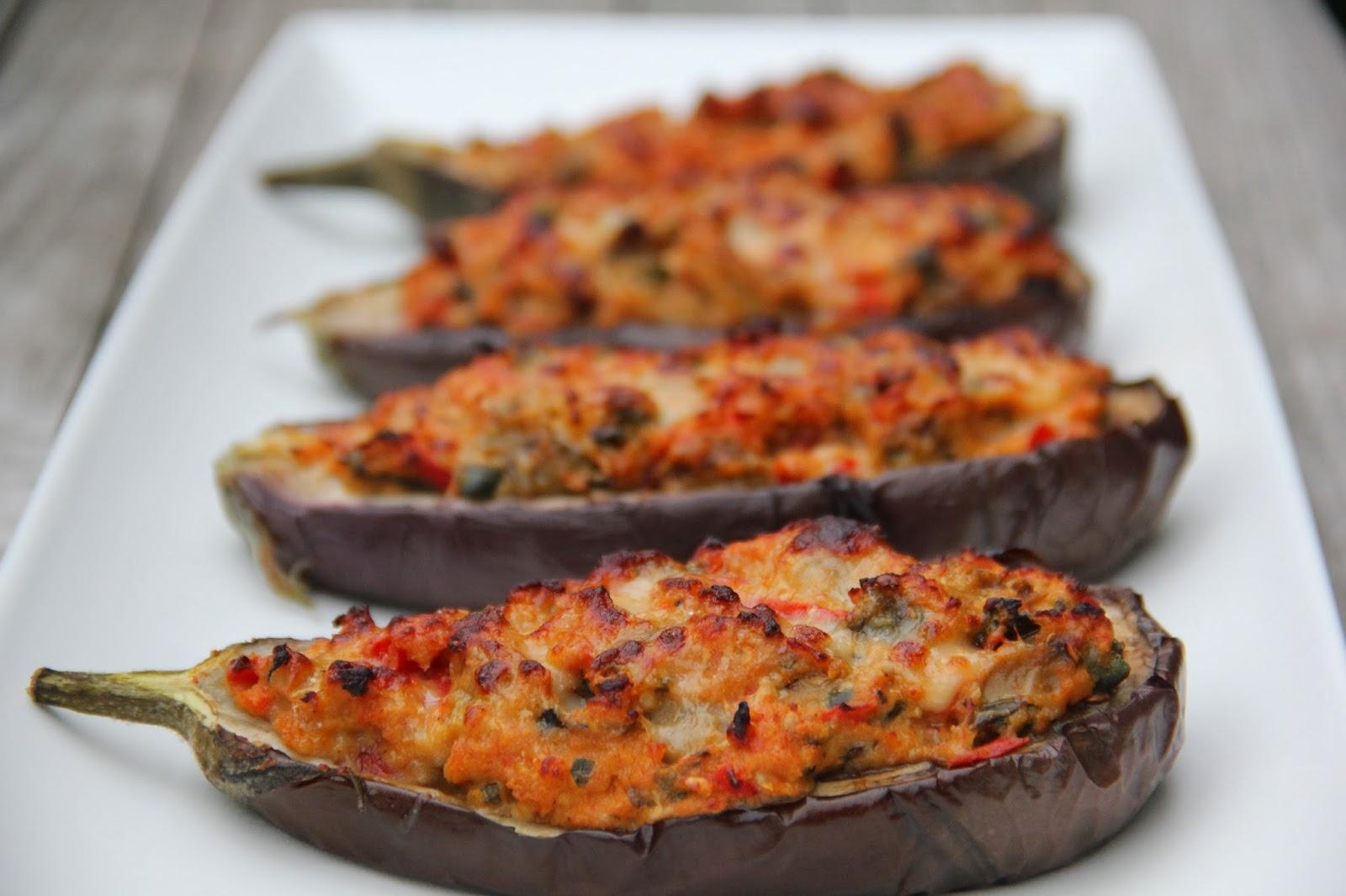 vegetarisch gerecht met aubergine