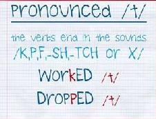 una página de un cuaderno con los verbos escritos