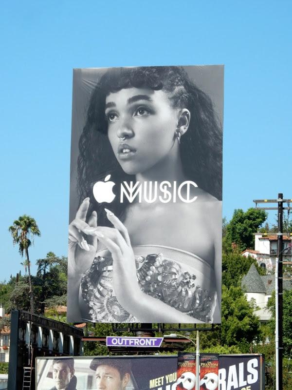 Giant Apple Music FKA Twigs billboard