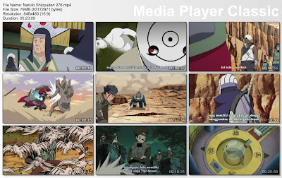 "DOWNLOAD FILM / ANIME NARUTO EPISODE 276 ""SERANGAN GEDOU MAZOU""  BAHASA INDONESIA"