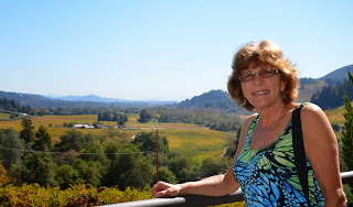 Liz in Sonoma Valley, wonderful vistas
