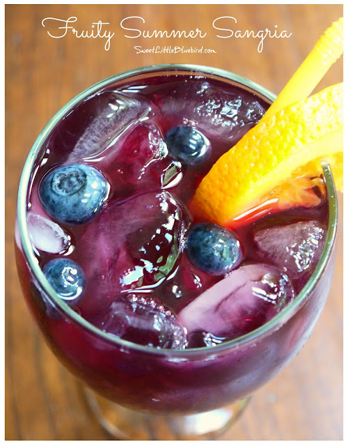 Sweet & Fruity White Wine Sangria Recipe — Dishmaps