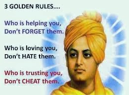 Swami Vivekananda's 3 golden rules