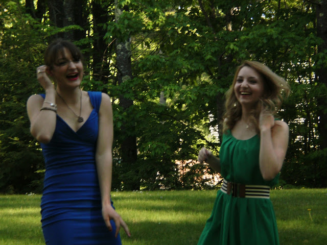 Single ladies high school prom little blue dress little green dress from Young Yankee Lady
