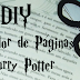 DIY - Marcador de Páginas Harry Potter