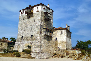 The Tower of Prosforiou in Ouranoupoli, Greece