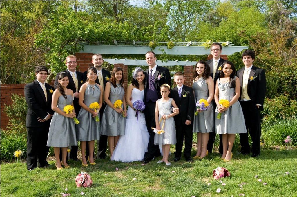 Grey and yellow continues to be a very popular color palette for weddings