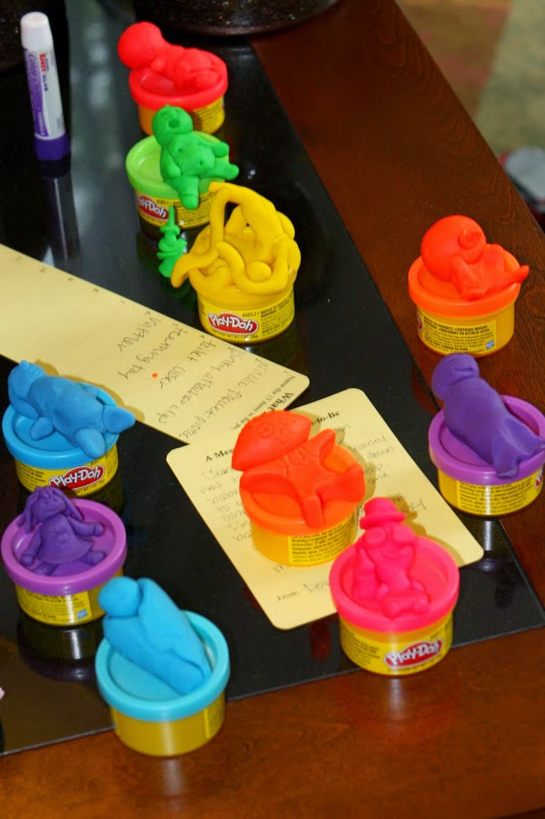 #PlayDohDay party ideas; baby shower game