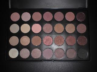 paleta de sombras 28 cores neutras