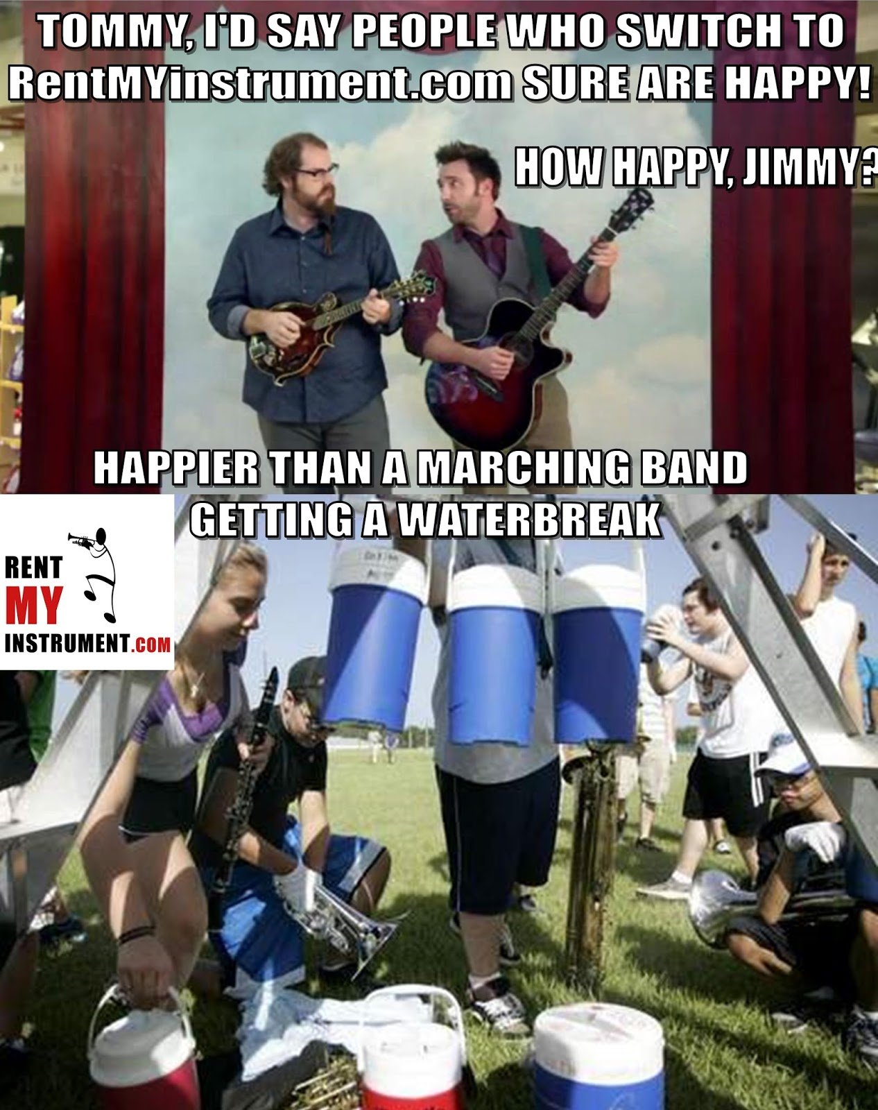 gieco+spoof+RMI+ad rentmyinstrument top 25 band geek posts best of school band memes