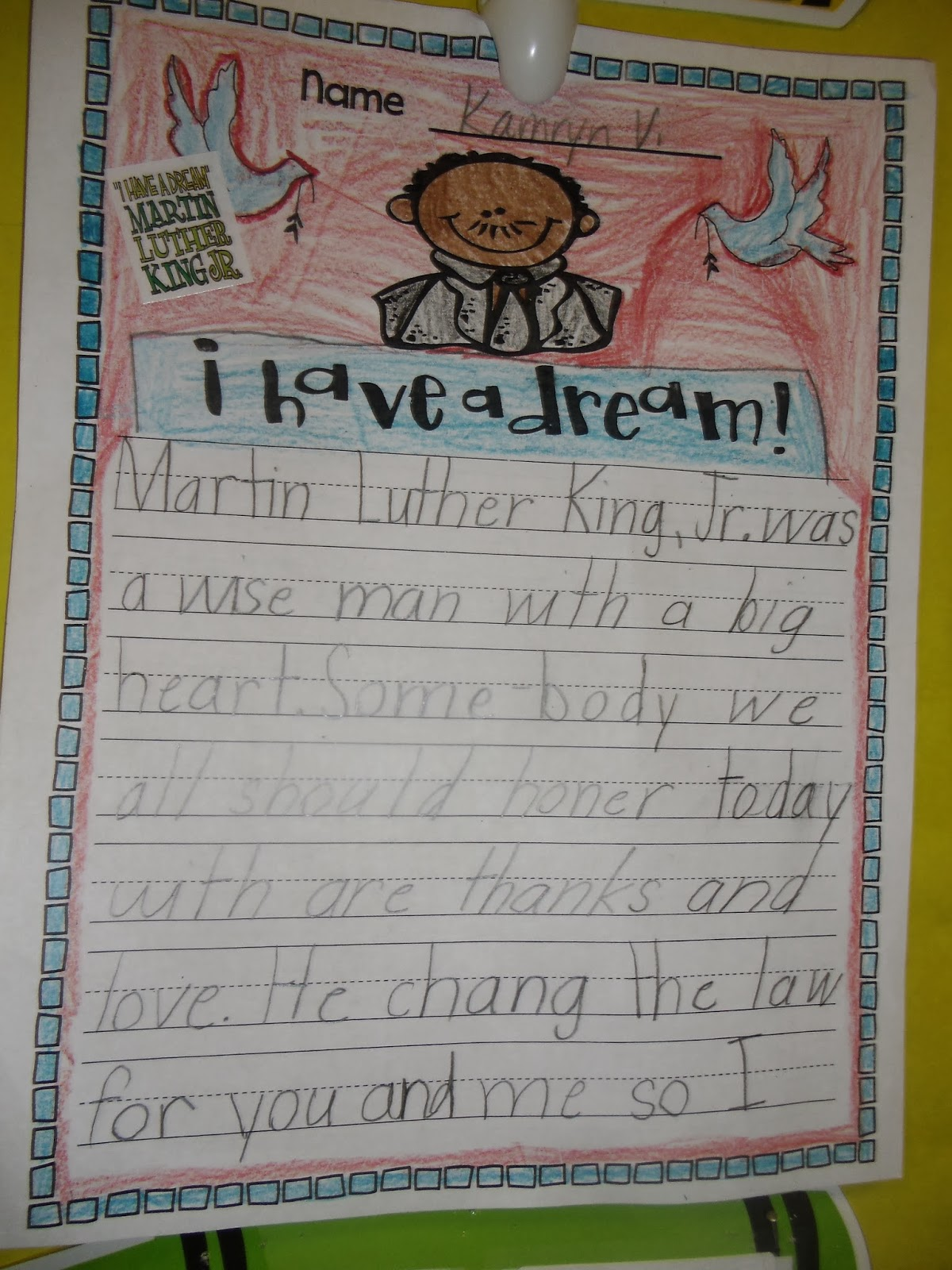 Martin Luther King, Jr: Historical Heroes | Worksheet | Education.com