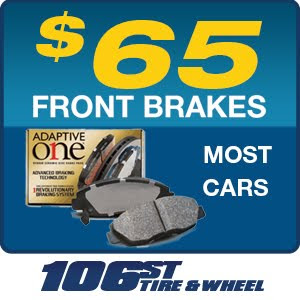 NAPA FRONT BRAKES INSTALLED for most cars $65