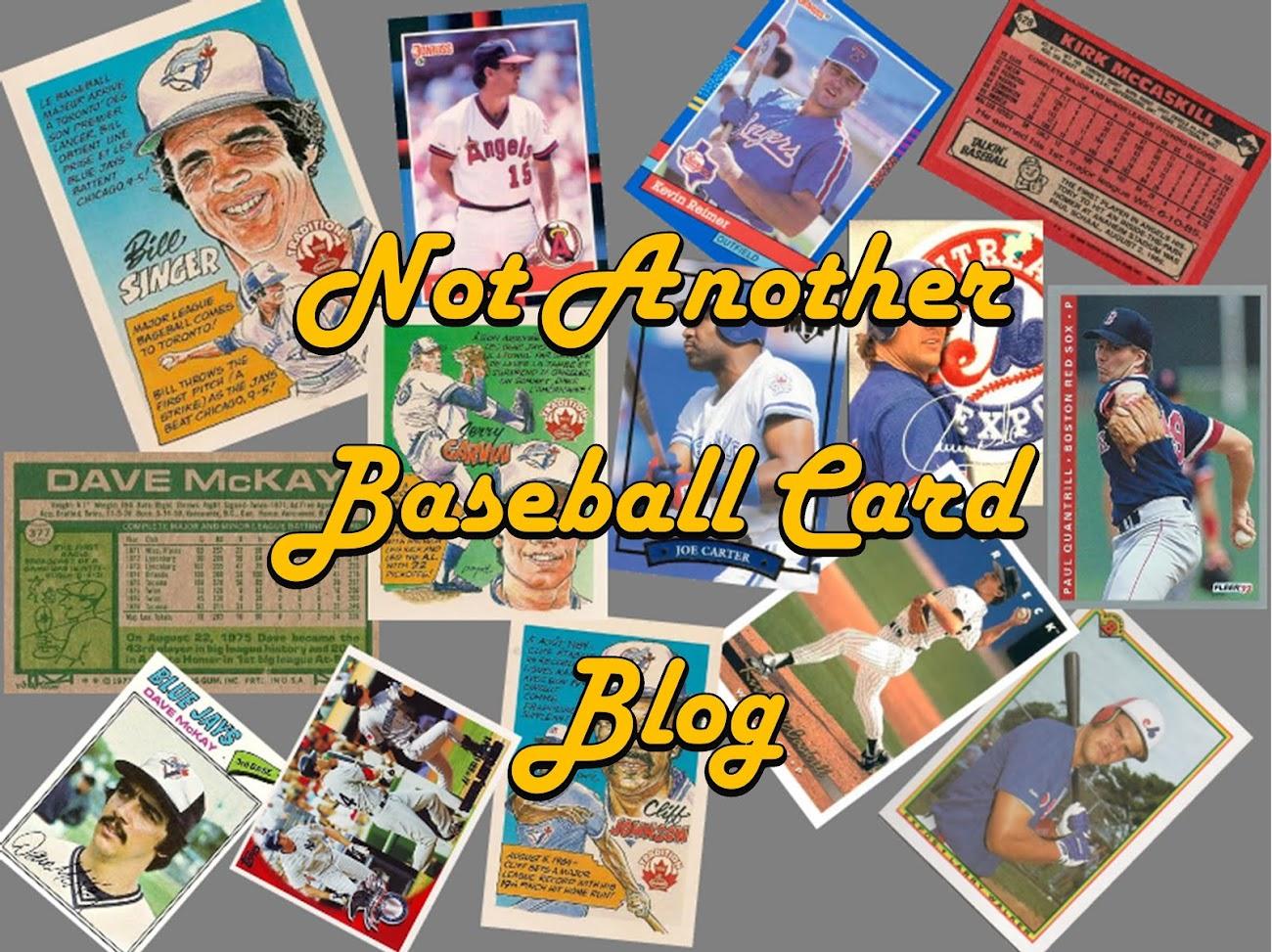 Not Another Baseball Card Blog