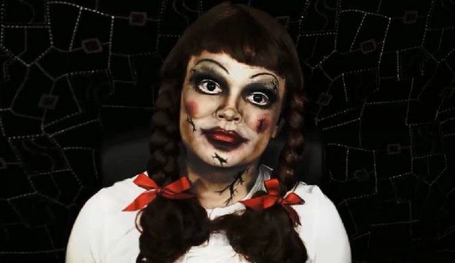 halloween doll by make up for evers halloween look 2013 annabelle