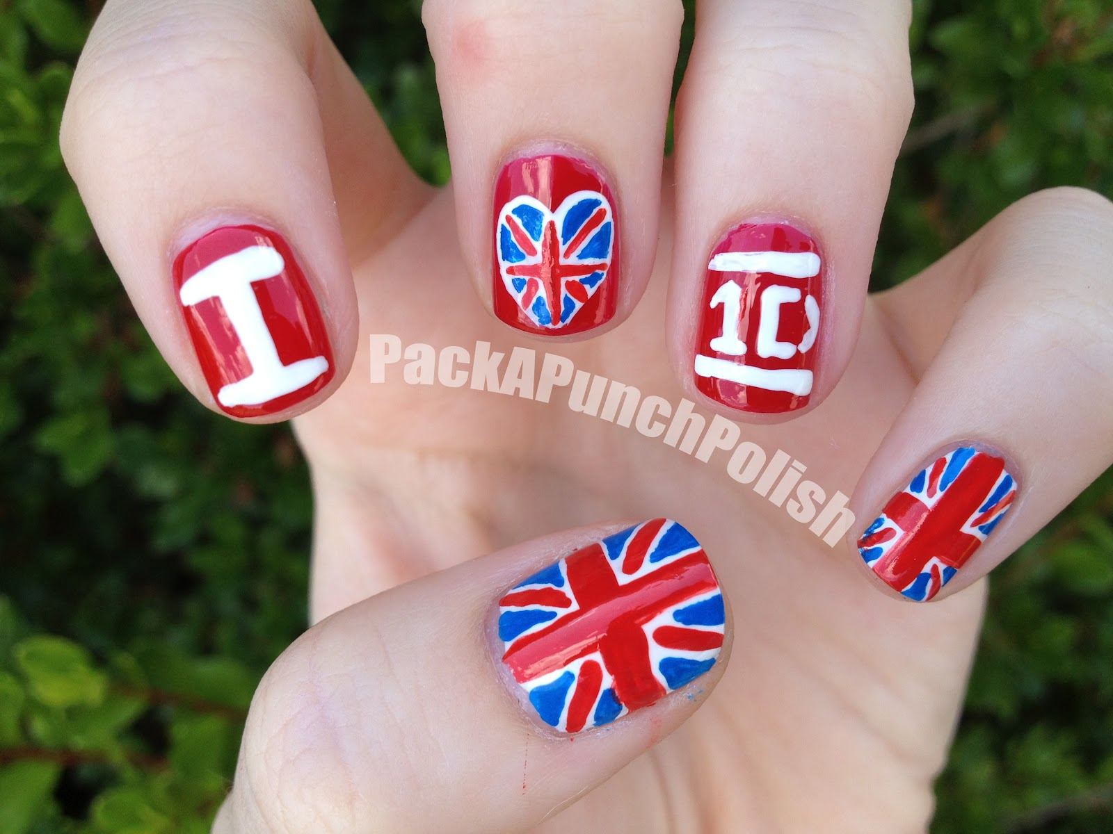 PackAPunchPolish: One Direction Nail Art