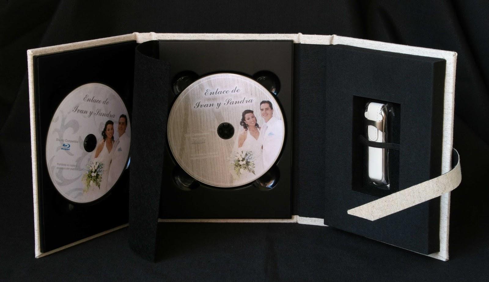 Pareja estuche 2 DVD  + 1 USB desplegado