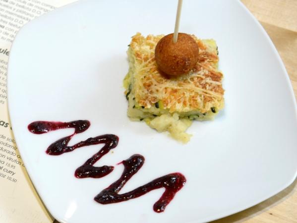 Tarta de calabacín con Torta del Casar (Le Qualité)
