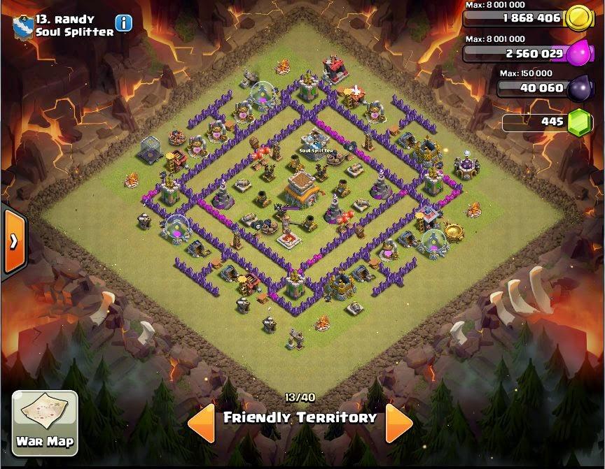randy - COC Clans War Base