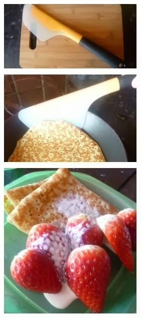 Yorkshire Blog, Mummy Blogging, Parent Blog, OXO, OXO Good Grips Flip & Fold Omelette Turner, Flip & Fold Omelette Turner, Review, Pancake Day, Strawberries And Cream,