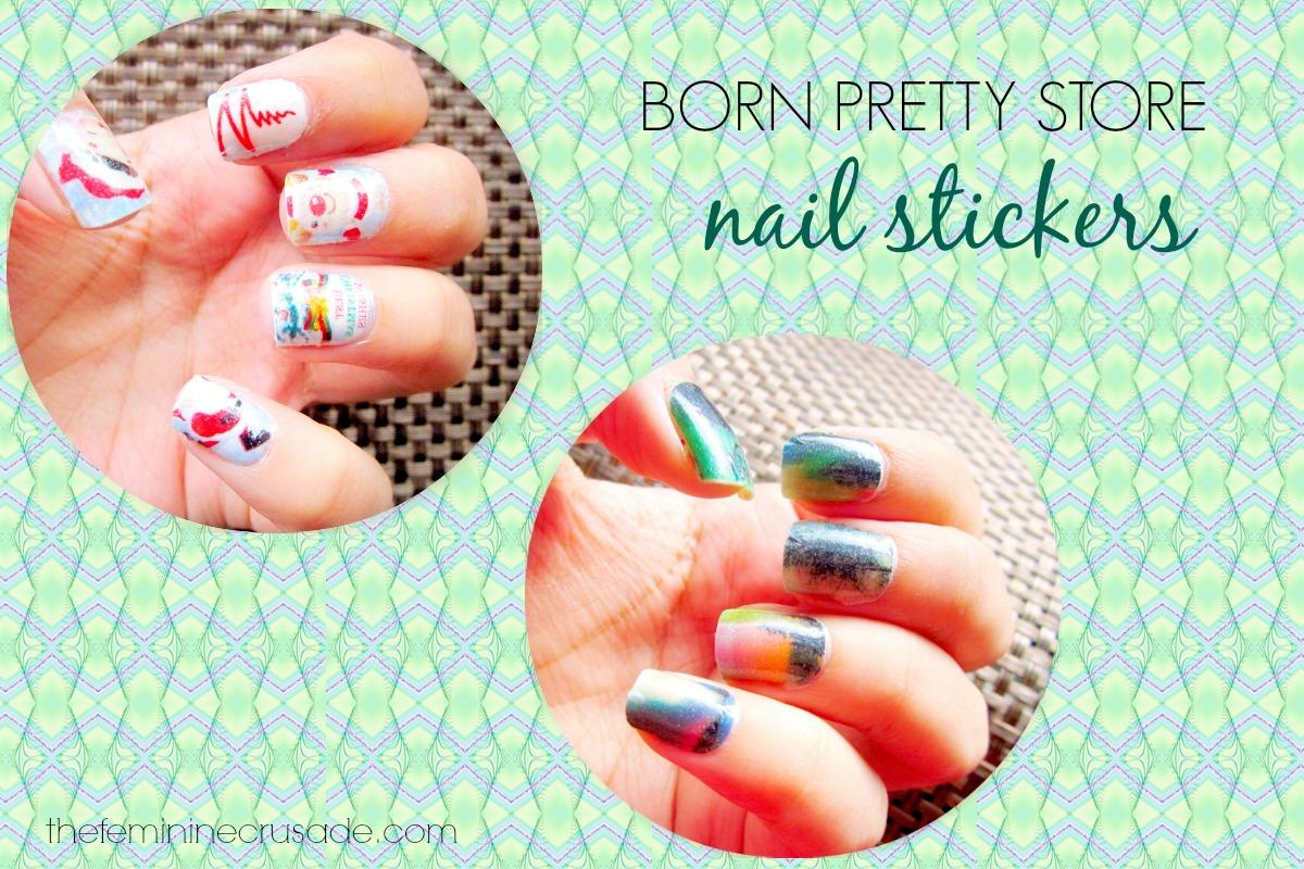 Born Pretty Store Glow-in-Dark Nail Stickers