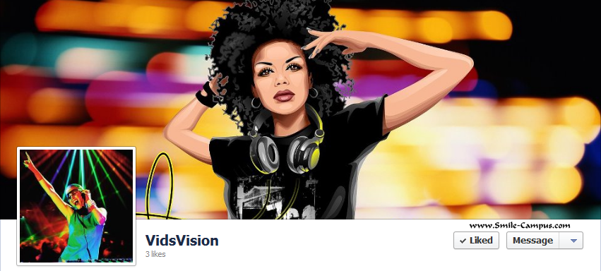 Facebook Fan Page of VidsVision.com