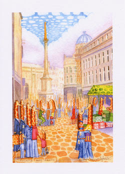 Newcastle greeting cards for sale by UK artist Ingrid Sylvestre